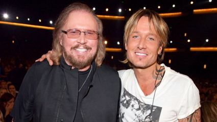 Barry Gibb and Keith Urban team up for country remake of 'I've Gotta Get a Message to You'