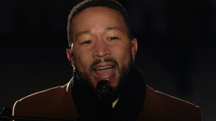 John Legend performs spine-tingling rendition of 'Feeling Good' at Celebrate America concert