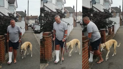 Dog owner spends hundreds on vet bills only to find out his dog was mimicking his leg injury