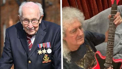 Brian May performs 'You'll Never Walk Alone' in spine-tingling tribute to Captain Sir Tom Moore