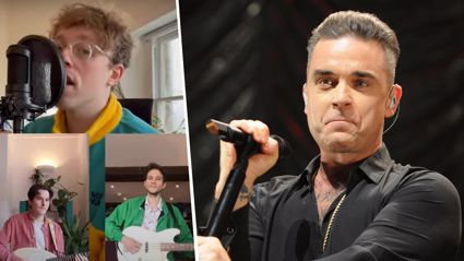 Band performs epic '80s mash up of Robbie Williams' 'Angels' and 'Don't You (Forget About Me)'