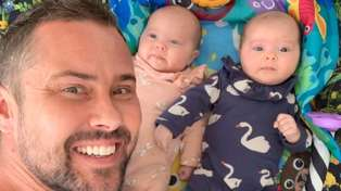 Sam Wallace shares heartwarming update on his twin girls