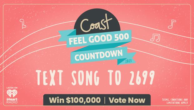 Win with Coast's $100,000 Feel Good 500 Countdown